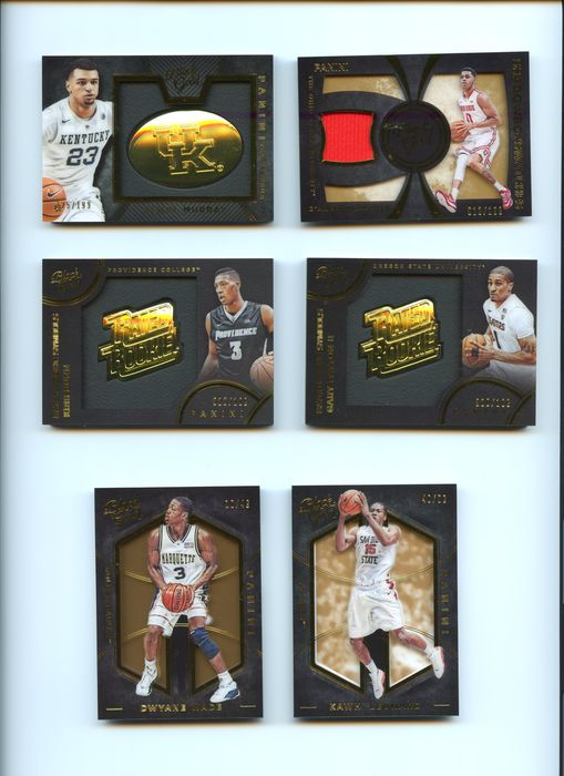 Panini Black Gold Collegiate - Basketball - Kawhi Leonard - Dwayne Wade - D'Angelo Russell... - 2016 - Sports Trading Cards - Signed Limited cards