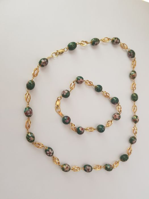 Image 2 of 18 kt. Yellow gold - Anklet, Necklace