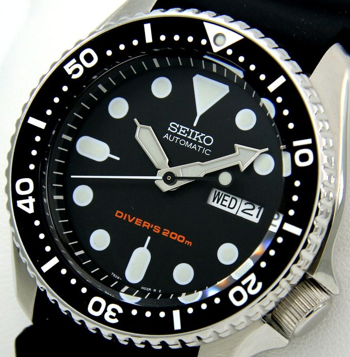 "Seiko - ""NO RESERVE PRICE"" Scuba Diver's 200M ""Black Dial"" - Men - 2018"