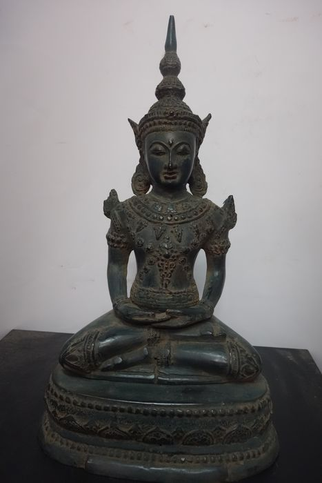 Figure - Bronze - Buddha - East-Java, Indonesia