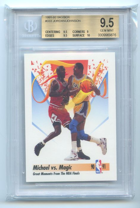 NBA Basketbal - Michael Jordan - Magic Johnson - 1991 - Gem Mint BGS 9.5 Graded sport card