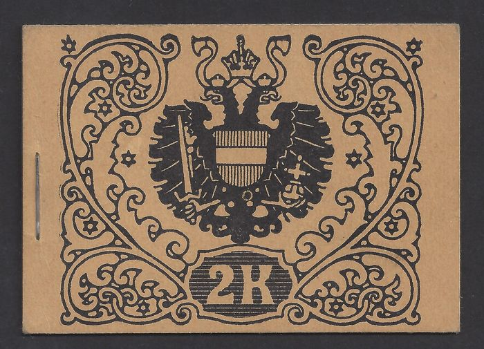 Austria 1916 - Stamp booklet, coat of arms, 2 kr. - Michel MH2