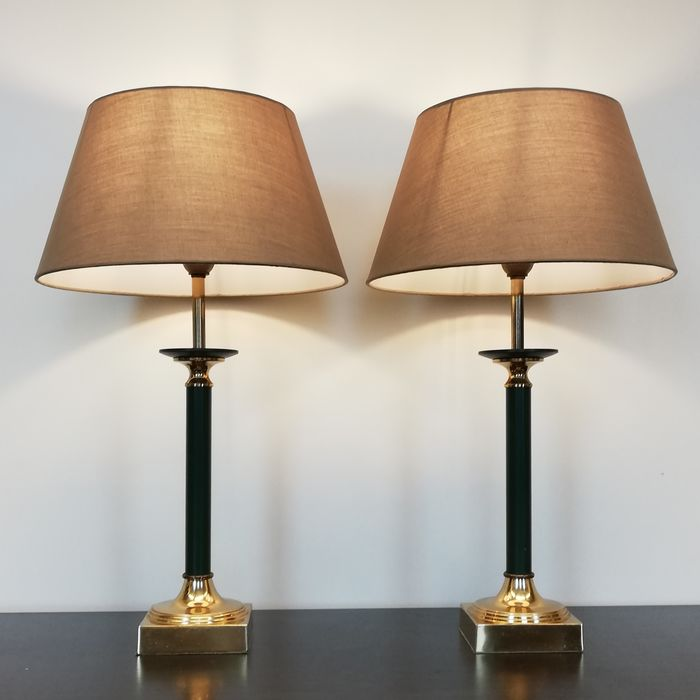 Kullmann - A Pair of Regency Table Lamps from the 1970s - Regency Style