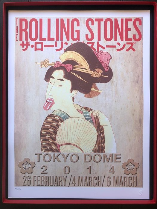 Rolling Stones - Tokyo concert -14 on fire tour 2014-number 440/500- - Multiple titles - Limited edition, Official merchandise memorabilia item, Original Lithograph - 2014/2014