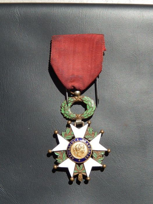 France - Medal Legion of Honor (F11J) Elite armed award - Medal - 1950
