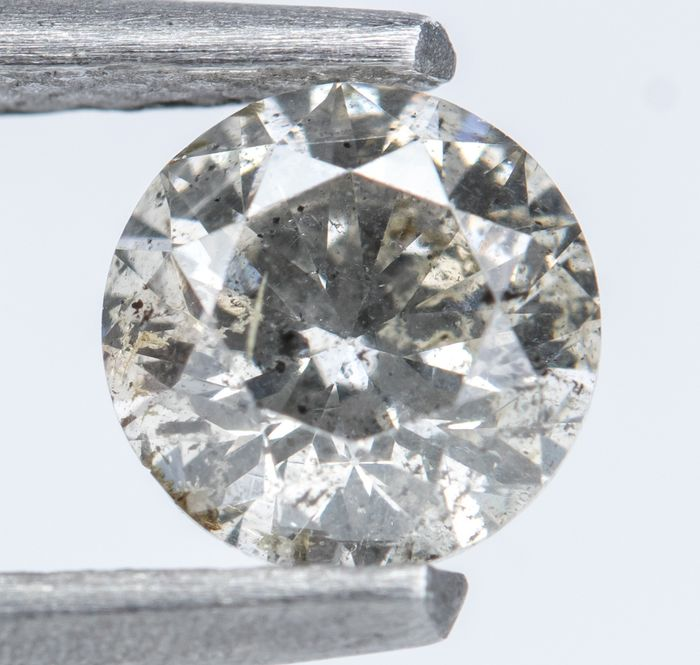 Diamond - 0.44 ct - Natural White - Q-R color - I2  *NO RESERVE*