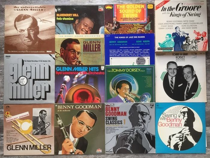 Various Artists/Bands in Jazz, Tommy Dorsey, Benny Goodman, Glenn Miller - Multiple artists - Big Bands In Jazz-Collection Of 22 Lp Albums - Multiple titles - LP's - 1967/1973