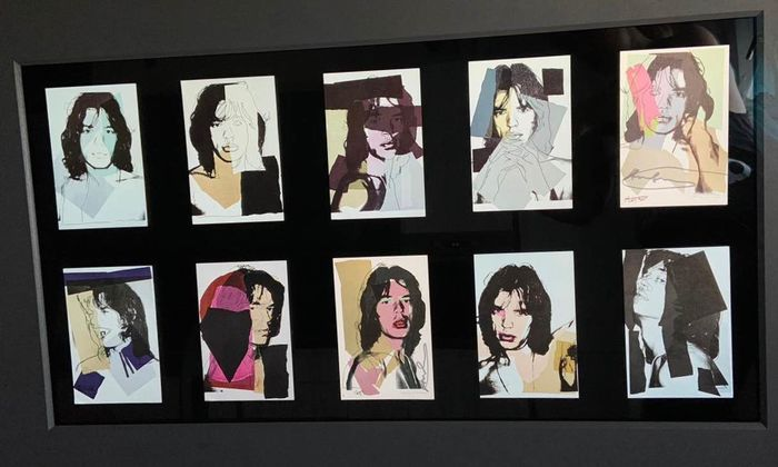 Andy Warhol  - Mick Jagger - Invitation card set portfolio of 10