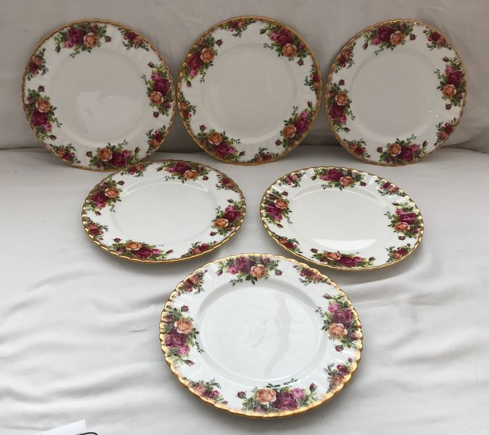 Royal Albert - Old Country Roses Salad Plates (6) - Porcelain