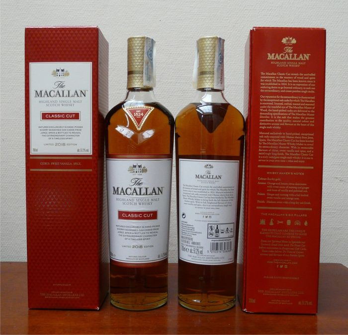 Macallan Classic Cut limited 2018 edition - Original bottling - 70cl - 2 bouteilles