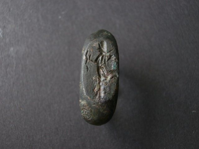 Roman empire: beautiful Roman bronze Ring with Nike - 15 / 19mm