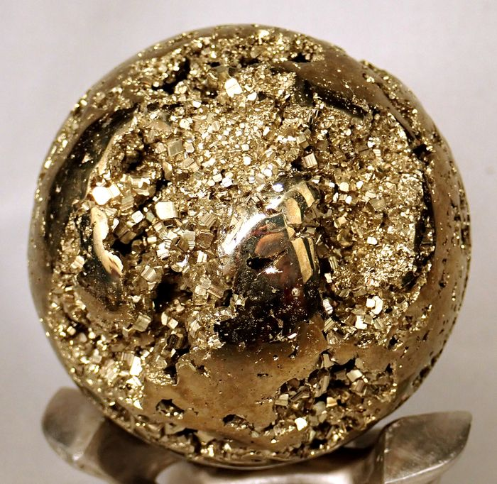 First Quality Pyrite Sphere - 71.78×71.78×71.78 mm - 683.9 g