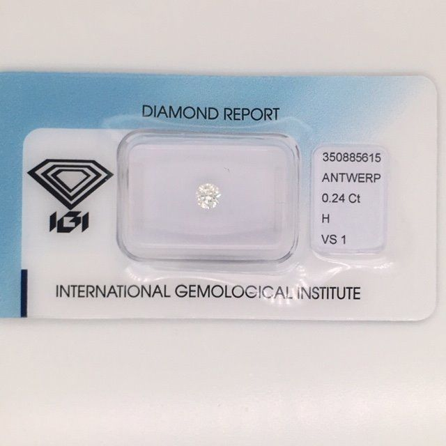 1 pcs Diamond - 0.24 ct - Round - H - VS1