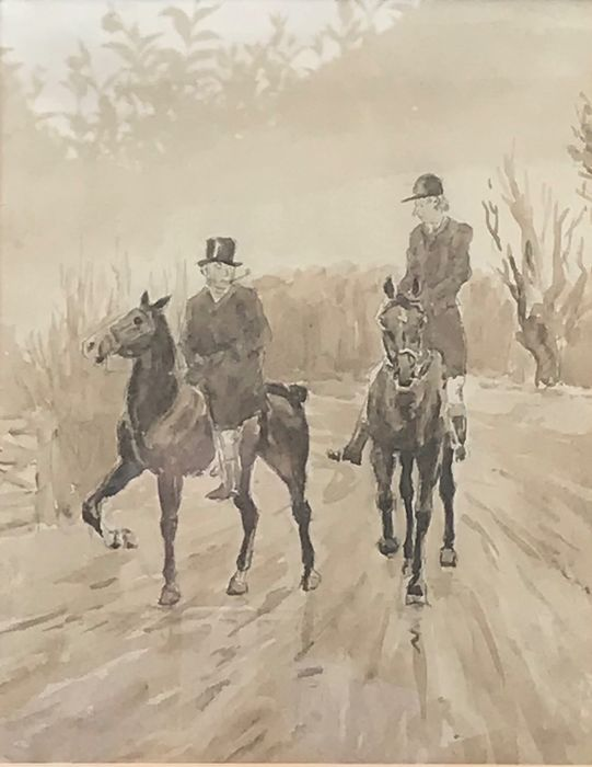 Hablot Knight Browne (19th Century) - Going for a hunt