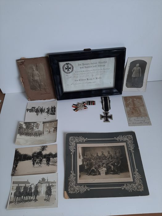 Germany - Army/Infantry - Award, Medal, Certificate - photos - postcards - 1915