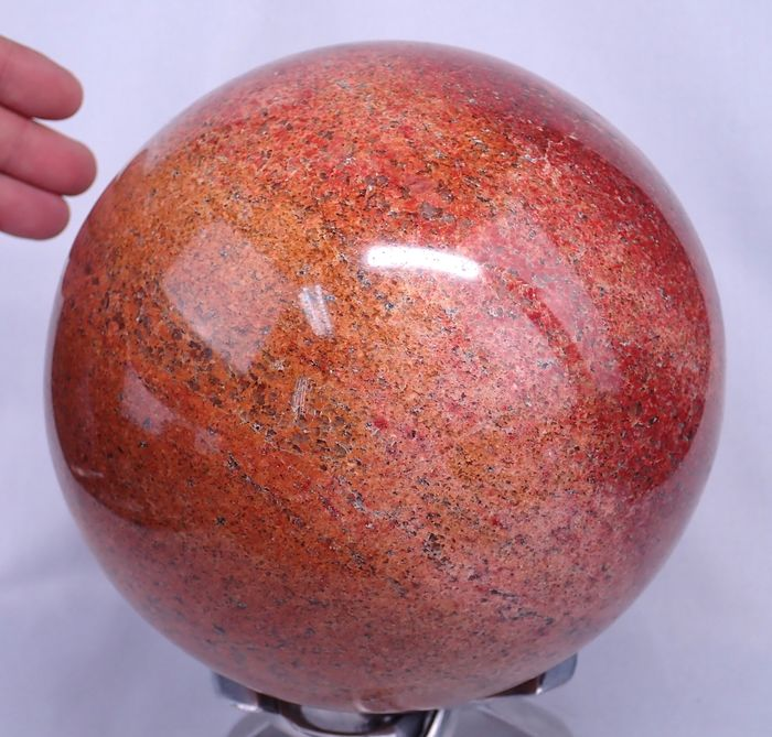 ** New Find ** Rare Red Dolomie Sphere - 170×170×170 mm - 7782 g