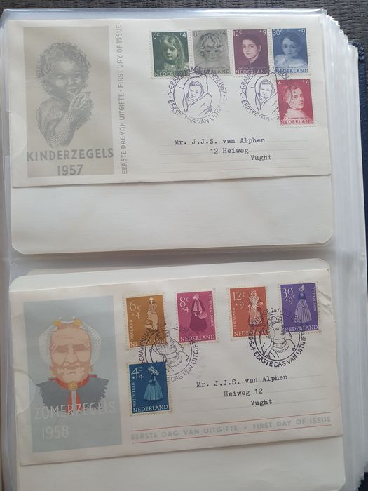 Netherlands 1957/2002 - Collection FDCs in 4 albums