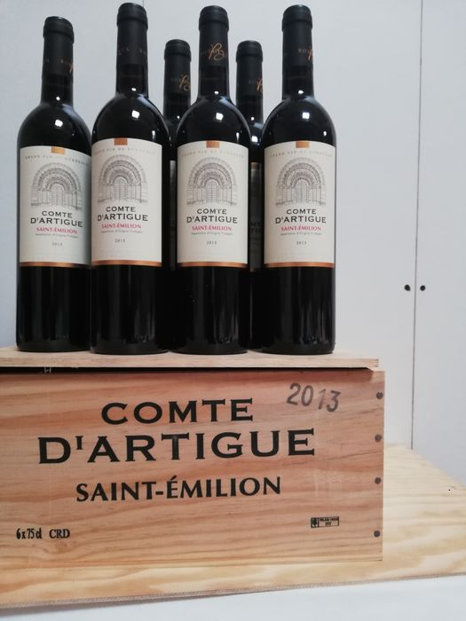 2013 Chateau d'Artigue 'le Comte d'Artigue' - Saint-Emilion - 6 Bottles (0.75L)