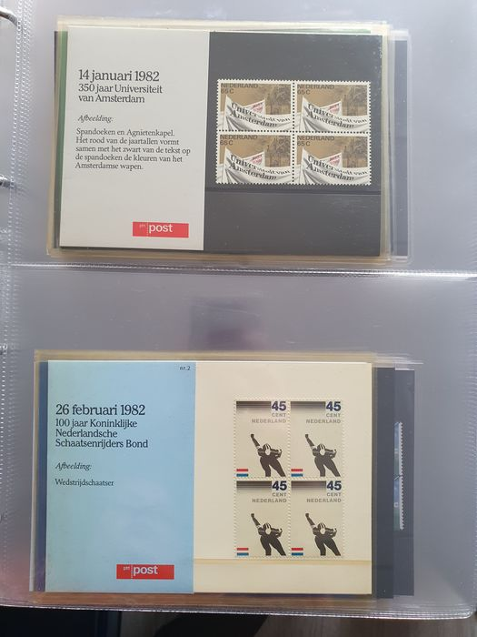 Netherlands 1980/2000 - Collection of stamp folders and 18 year sets
