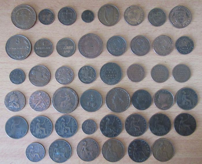 Great Britain - Collection de 46 Monnaies entre 1775 et 1949