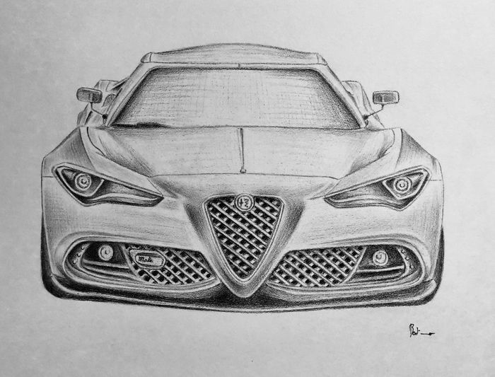 Single work on fine paper - Alfa Romeo - After 2000