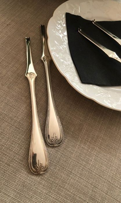 Christofle  - Christofle  - lobster forks (6) - Silverplate