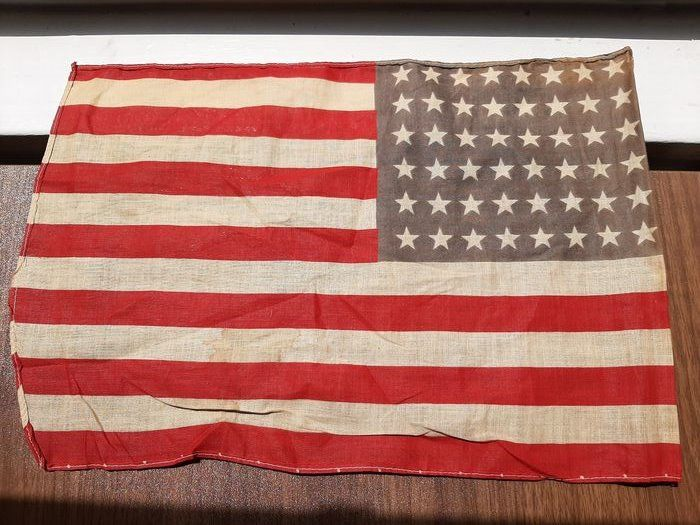 United States of America - Rare - USA 48 star flag - great patina! - used between 1912-1958