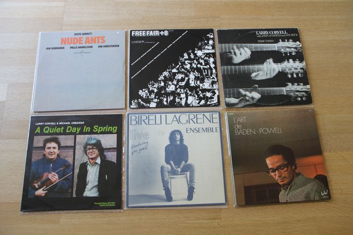 Various Artists/Bands in Jazz, Keith Jarrett, Baden Powell, Larry Coryell, Free Fair +8. - Multiple artists - Multiple titles - LP's - 1973/1985