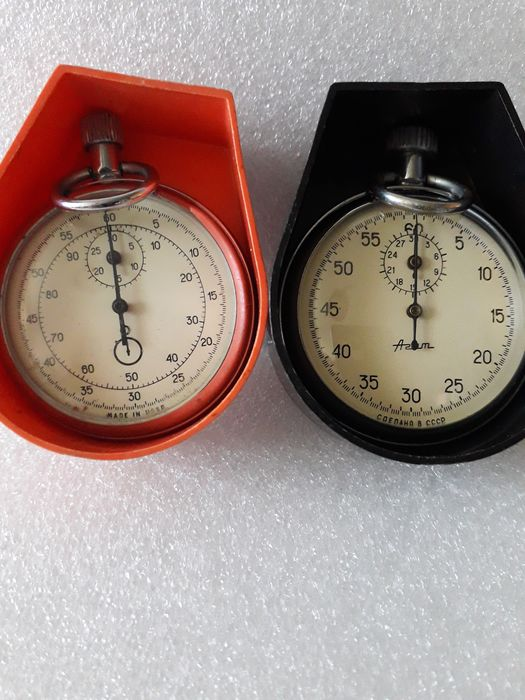 Russia - Two Agate stopwatches - 1963