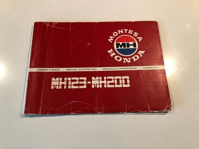 Brochures / catalogues - Montesa MH 123 / MH 200 owner's book  - 1980-1990