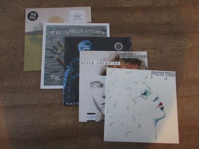 Various Artists/Bands in Rock - Phoebe Snow - Peter Frampton - Janis Martin - The lonely biscuits - Nick Luca - LP's - 1986/2016