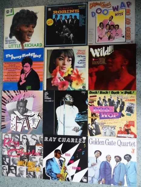 Various Artists/Bands in Soul - Multiple artists - 12 LP's with Soul, Rockin' Rhythm & Blues and Doo-Wop. - Multiple titles - LP's - 1964/1987