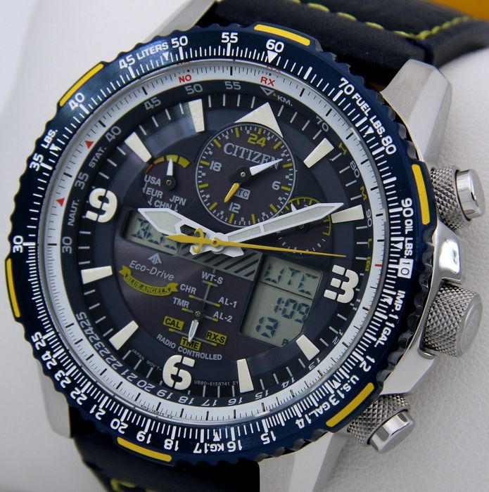 """Citizen - Eco Drive """"Blue Angels"""" Promaster Skyhawk A-T Radio controlled Atomic Watch - NO RESERVE PRICE - - Uomo - 2019"""