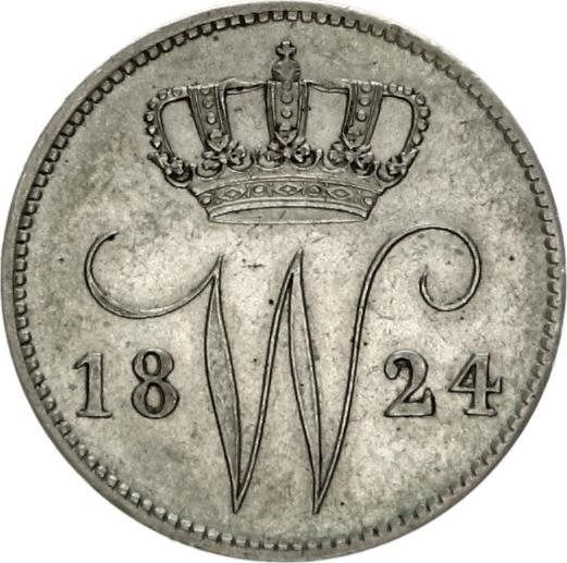 The Netherlands - 25 Cent 1824 B Willem I - Silver