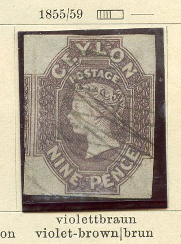 Ceylon 1888/1940 - Stamps of the period on pre-printed sheets
