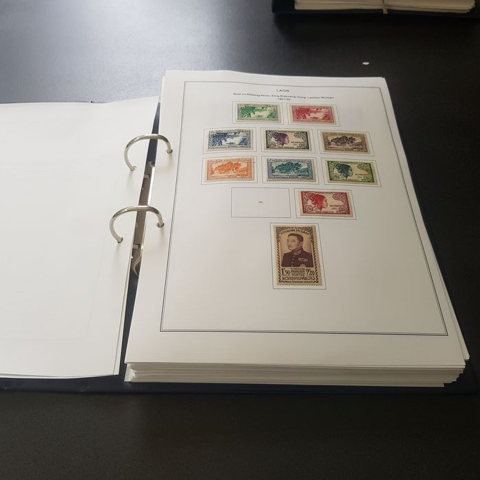 Laos 1951/1997 - Collection in a ring binding with album pages