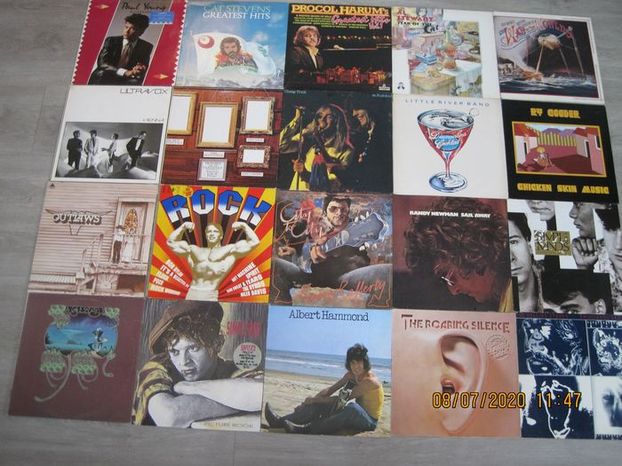 Various Artists/Bands in 1970's, Various Artists/Bands in 1980's - Multiple artists - Multiple titles - LP's - 1970/1984