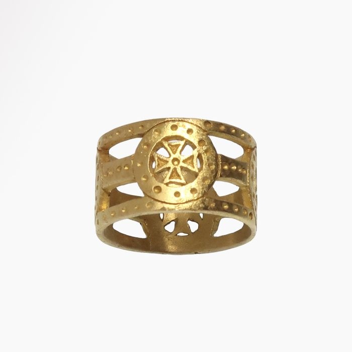 Byzantine Gold Open Work Ring