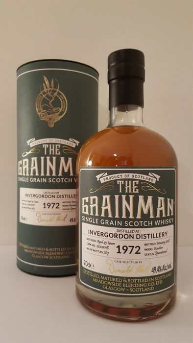Invergordon 1972 45 years old Single Cask - The Grainman - b. 2008 - 70cl