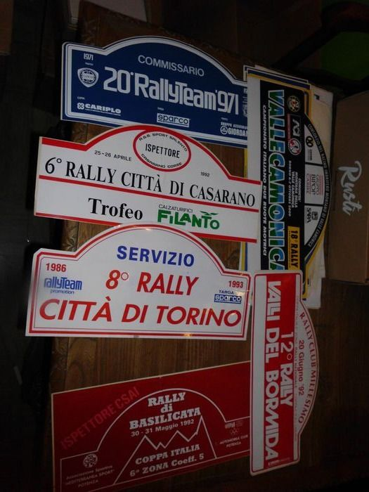 Number plate - 25 targhe rally italiani - 1990-2000