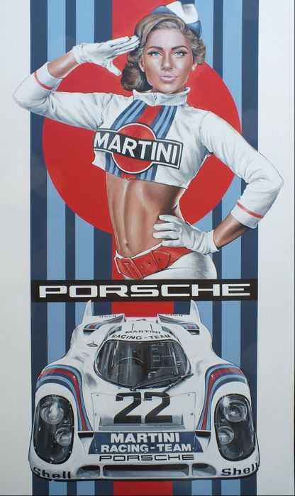 un - Porsche 917 Martini Grid Girl - 2012