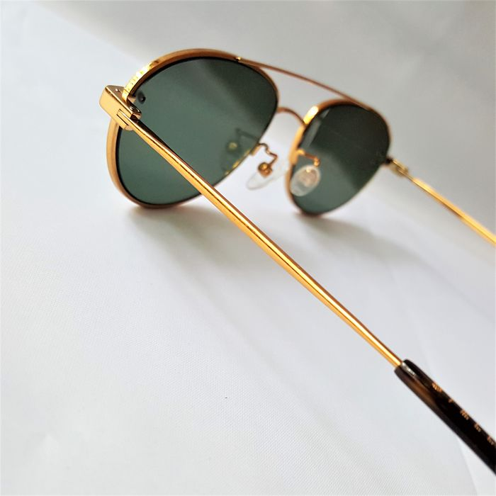 Stella McCartney - Aviator Oval Gold Green - Made in Italy - 2020 - New Sunglasses