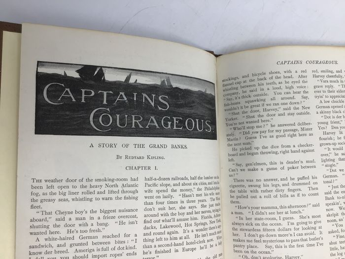 Rudyard Kipling - Captains Courageous (true first edition serialization in Pearson's magazine) - 1896
