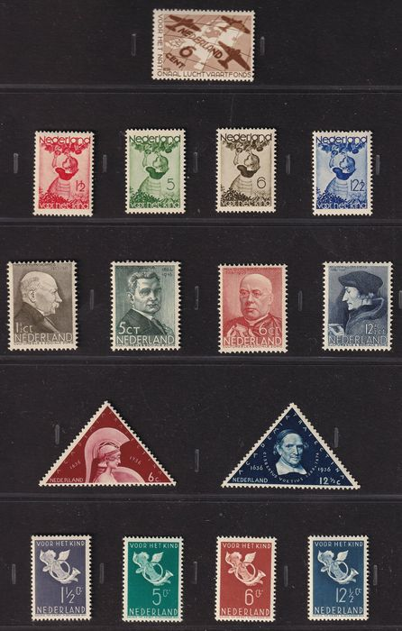 Netherlands 1935/1936 - Selection of complete series