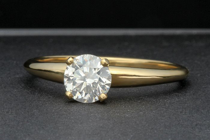 18 kt. Yellow gold - Ring - 0.72 ct Diamond
