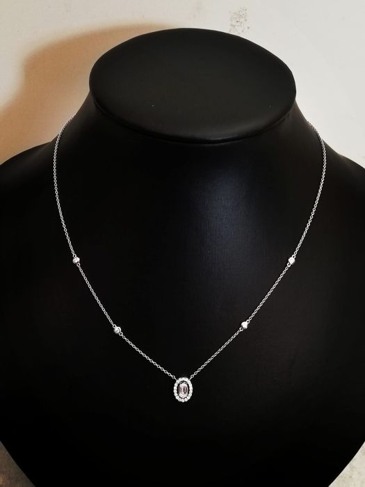 18 kt. White gold - Necklace Diamond