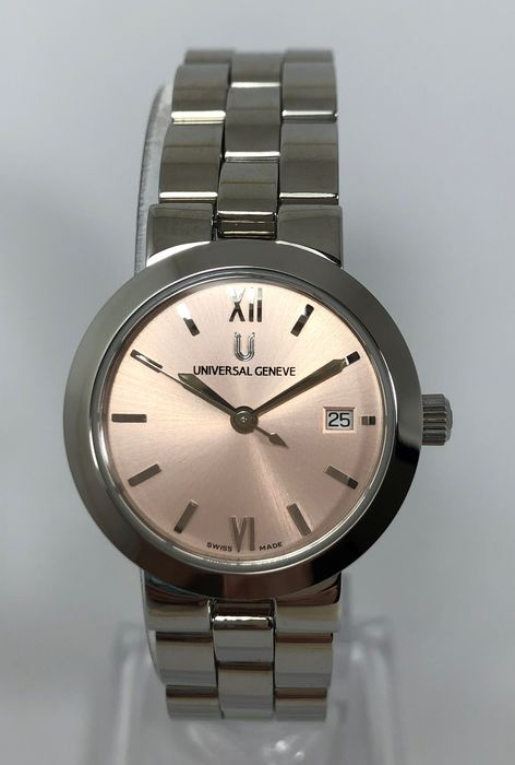 """Universal Genève - Pink Edition """"New Old Stock"""" - 818.611 - Dames - 1990-1999"""