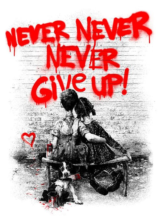 Mr Brainwash - Don't give up (Red)