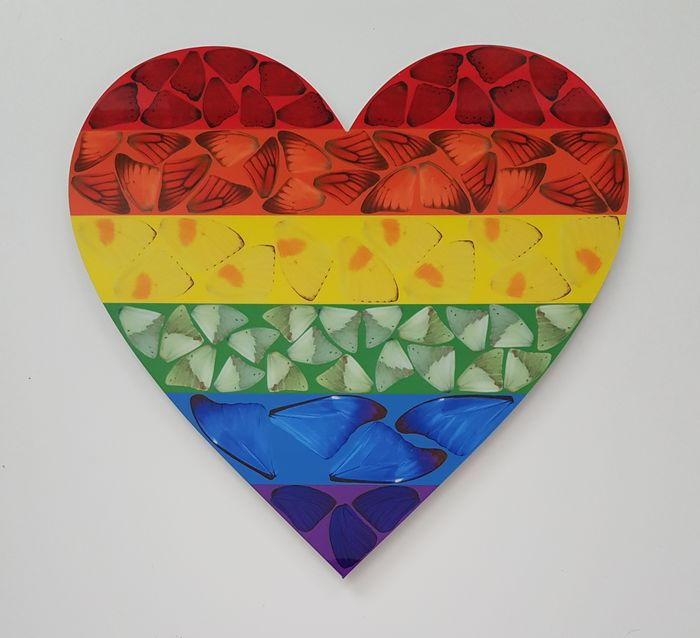 Damien Hirst - Butterfly Heart - H7-4