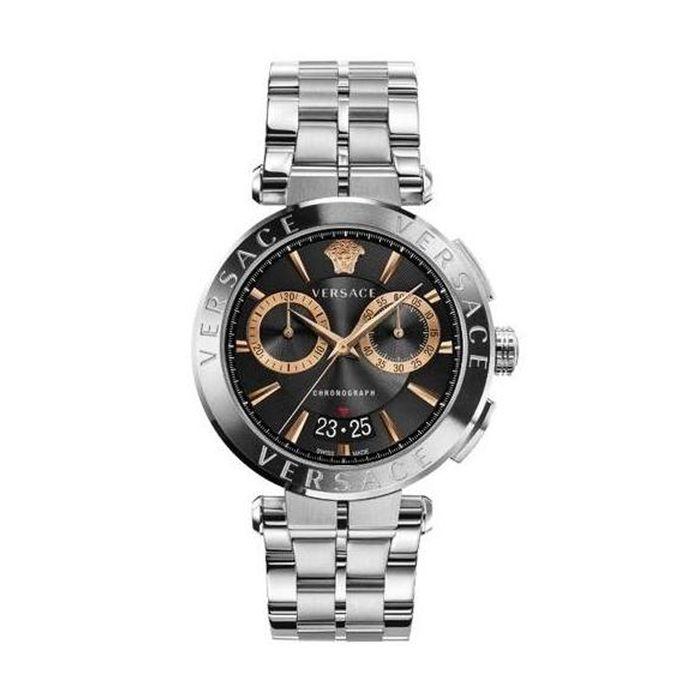 Versace - Aion Chronograph Watch Stainless Steel Swiss Made - VE1D01019 - Uomo - Brand New